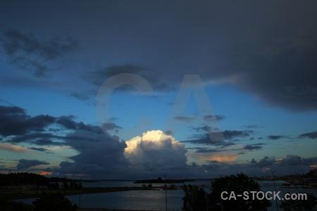 Europe cloud sea karlskrona tree.