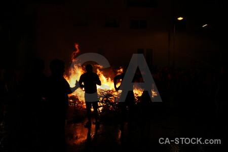 Europe fire javea flame silhouette.