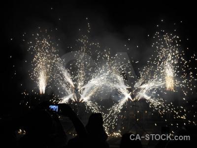 Europe firework correfocs black javea.