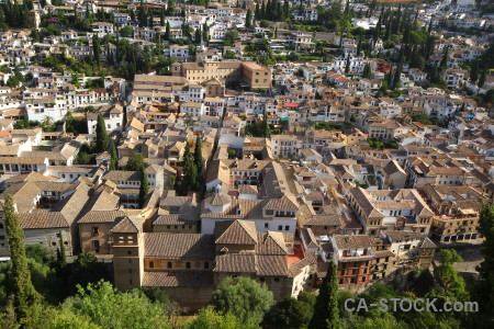 Europe granada above city building.