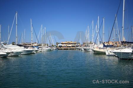 Europe harbour boat spain blue.