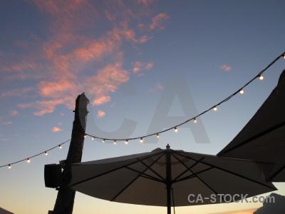 Europe javea light umbrella sunrise.