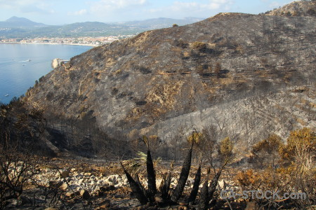 Europe javea montgo fire ash burnt.