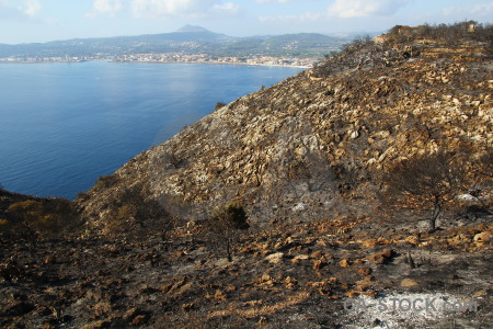 Europe javea montgo fire burnt spain.