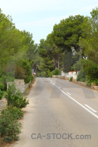 Europe javea road white green.