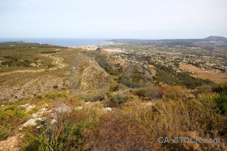 Europe javea rock montgo eye climb spain.