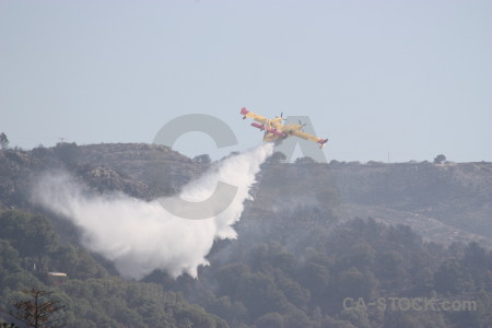 Europe javea spain firefighting airplane.