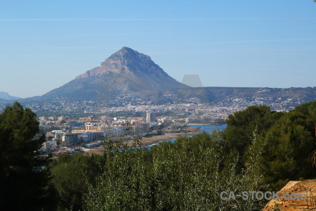 Europe javea spain mountain sky.