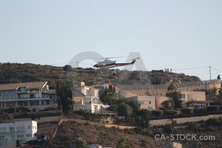 Europe montgo fire firefighting helicopter javea.
