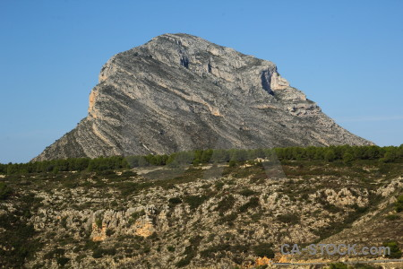Europe montgo javea mountain spain.