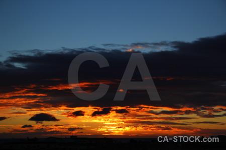 Europe orange blue sunrise spain.