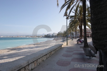 Europe palm tree sky javea beach.