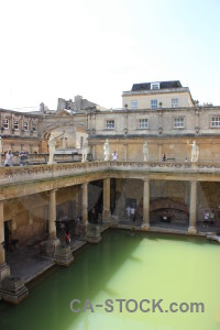 Europe person bath building roman baths.