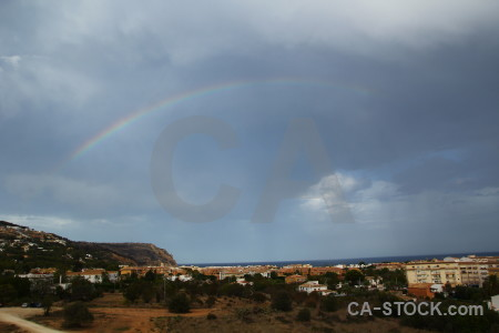 Europe rainbow spain sunrise javea.