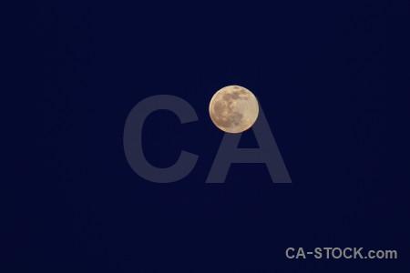 Europe sky javea moon spain.