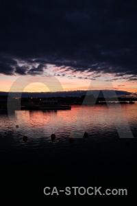 Europe sky sunset sweden karlskrona.