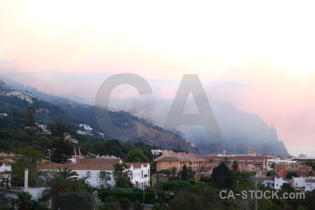 Europe smoke javea montgo fire spain.