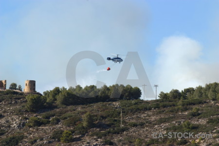 Europe smoke vehicle javea firefighting.