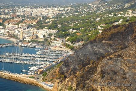 Europe spain ash burnt montgo fire.
