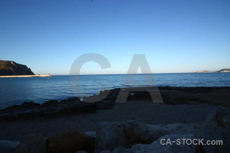 Europe spain beach sky water.