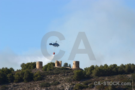 Europe spain helicopter firefighting vehicle.