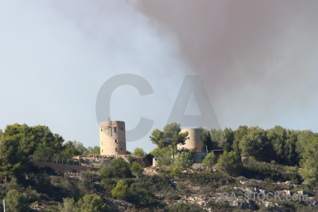 Europe spain javea montgo fire smoke.
