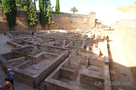 Europe spain labyrinth alhambra building.