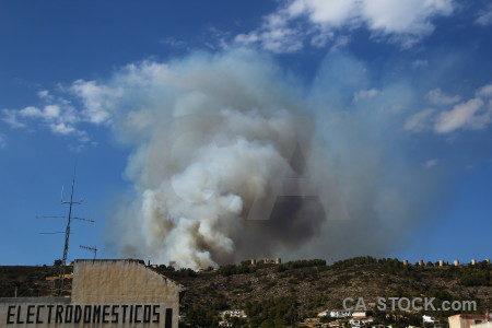Europe spain smoke montgo fire javea.