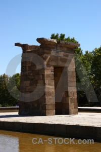 Europe spain water temple of debod ancient.