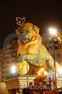 Europe spain yellow lion animal.
