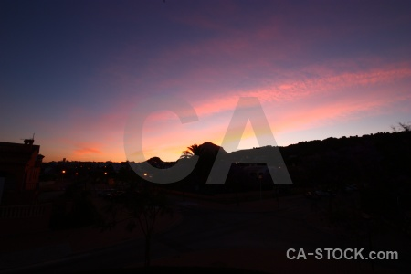 Europe sunrise sunset spain silhouette.