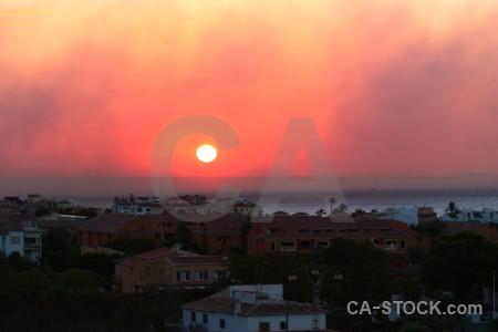 Europe sunset smoke sunrise spain.