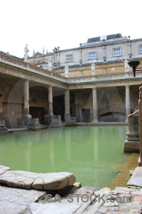 Europe uk bath roman baths building.