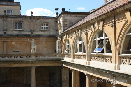 Europe uk building roman baths bath.