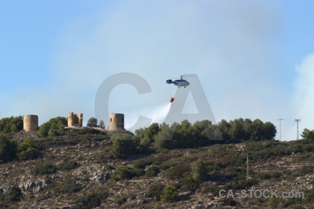 Europe vehicle helicopter javea spain.