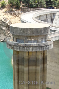 Europe water bridge dam cyan.