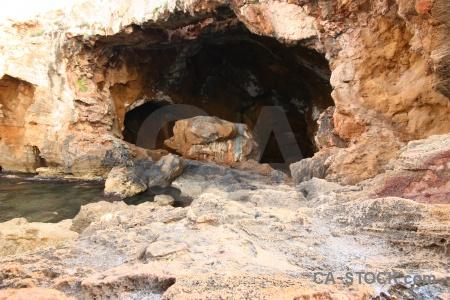 Europe water rock cave spain.