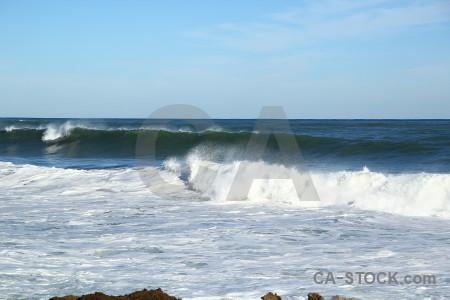 Europe wave spain sea water.