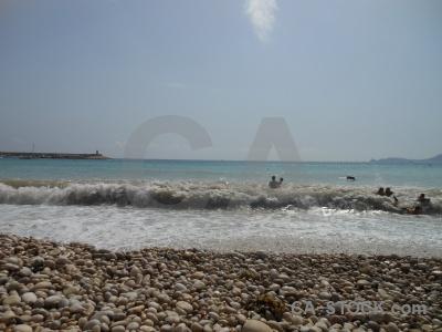 Europe wave water beach javea.