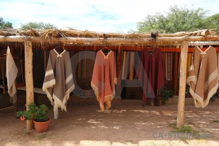 Fabric textile cachi poncho argentina.