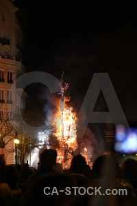 Fallas flame fire black valencia.