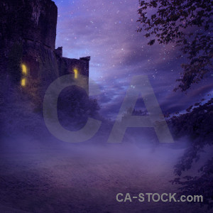 Fantasy backgrounds purple premade.
