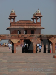 Fatehpur sikri south asia building fort person.