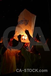 Festival flame lantern southeast asia thailand.