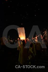 Festival person light thailand full moon.