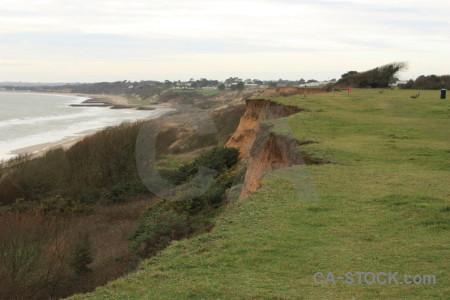 Field coast rock cliff landscape.