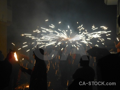 Fiesta building correfocs javea firework.
