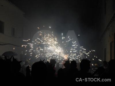 Fiesta building javea correfocs firework.