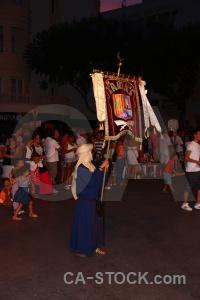 Fiesta christian costume flag moors.
