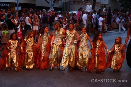 Fiesta christian costume person moors.